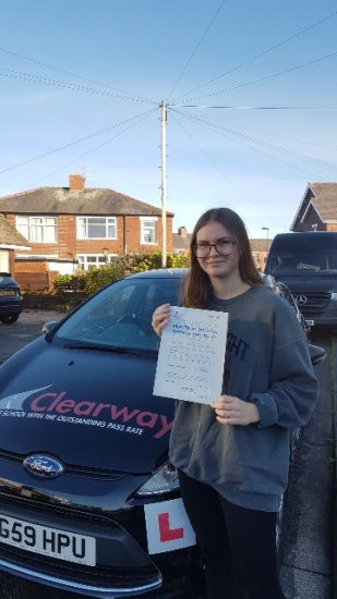 I would like to thank Fred for helping me pass my driving test 1st time.  I found him to be patient, friendly, helpful and encouraging especially when I doubted myself.  I would recommend Fred 100% as a driving instructor.  I couldn´t have done it without him. Passed 7th December 2020.