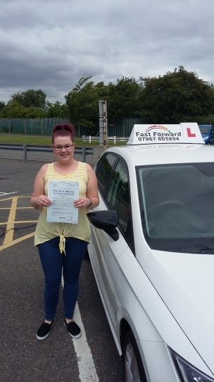 well done on passing test. believe in yourself and you will be fine