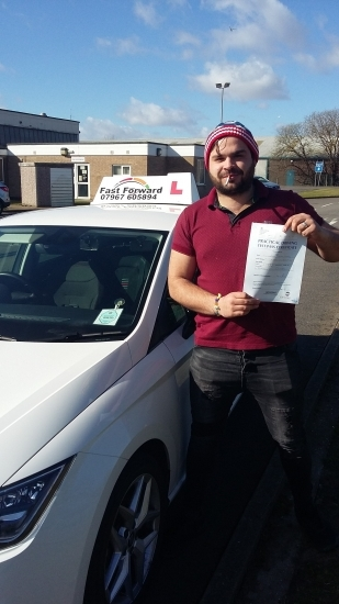 Well done chris on passing test first time. be safe