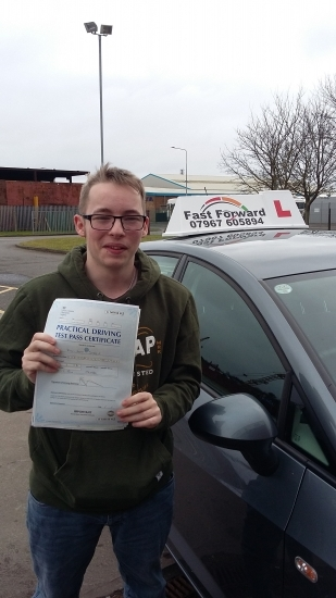 well done Fella Excellent 1st time pass well deserved Be safe