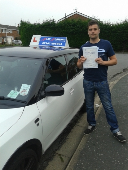 Well done Tony on passing 1st time with only 1 minor all the best for the future
