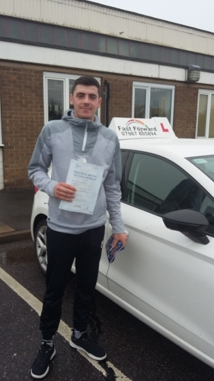 well done Tom on passing test today.be safe