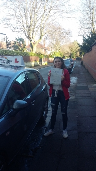 well done on passing test today