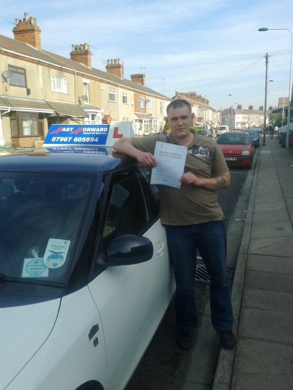 well done Rob on passing your test 1st time well deserved