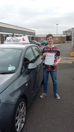 well done Toby on passing test knew you could do it be safe