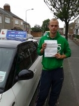 Congratulations Zach on passing your test