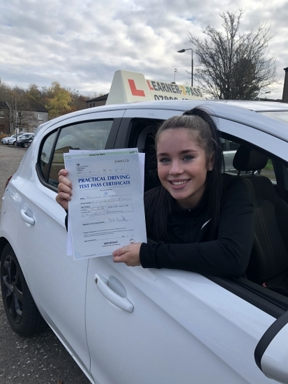 A MASSIVE CONGRATULATIONS TO NICOLA WHO PASSED HER DRIVING TEST 1ST ATTEMPT<br /> AND MANAGED TO GET 0 MINORS <br /> SO PROUD OF YOU