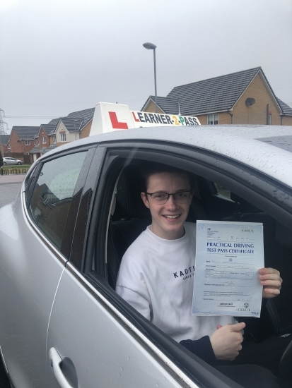 CONGRATULATIONS LEWIS PASSING YOUR DRIVING TEST WITH ONLY 2 MINOR FAULTS<br />