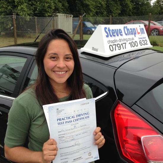 Berenice Hernandez from Kimberley, Nottinghamshire PASSED on 02/08/2016 at Watnall Driving Test Centre