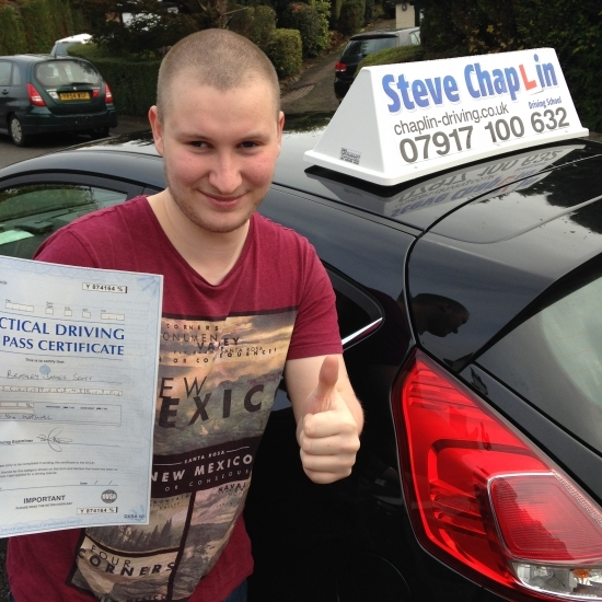 Bradley Scott from West Hallam PASSED on 14/11/2016 at Watnall Driving Test Centre