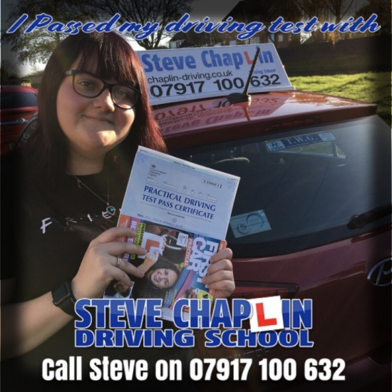 Jessica Smith PASSED on 18/11/2019 at Chilwell Driving Test Centre