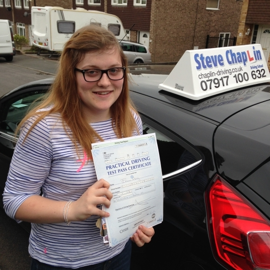 Emma Ashley from Ilkeston PASSED on 13/05/2016 at Watnall Driving Test Centre