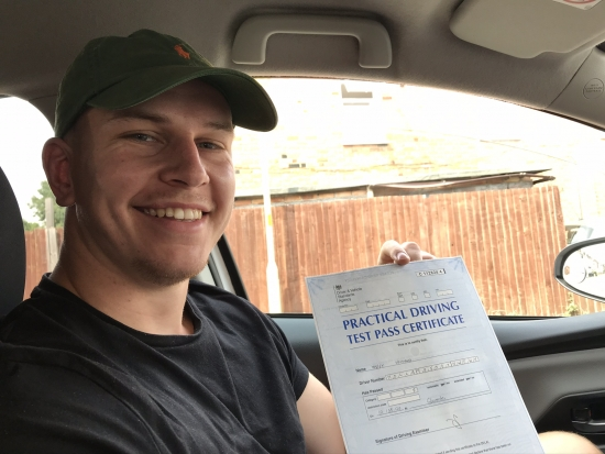 Big Congratulations to Harry Holland who passed his driving test in Gloucester with a really good drive. Stay safe!