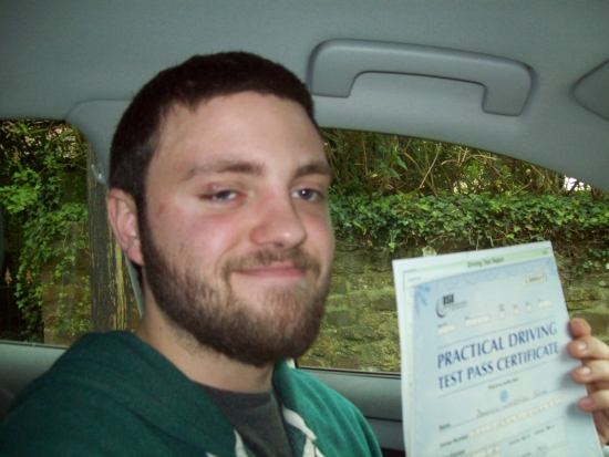 Well done Dominic you showed the Examiner that you are such a good driver and didn´t let any pre-test nerves get the better of you.