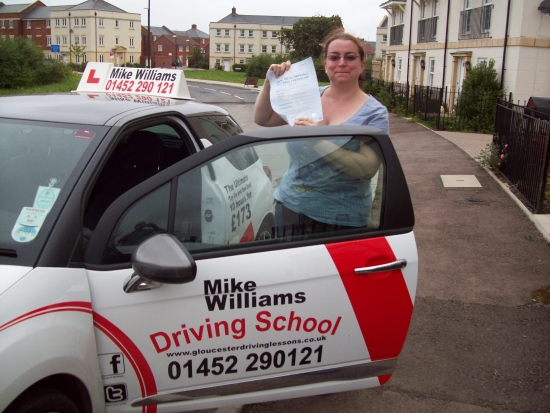 """Congratulations to Sam Bevis of Gloucester who passed her Practical Driving Test in Gloucester with only 1 driving fault<br /> <br /> What a brilliant drive for your Examiner today Sam He said at the end that """"it was a very smooth controlled drive"""" Your pre-test nerves didn't get the better of you because you took your time…few sips of water to help along the way…and you were fantastic<br /> <br />"""