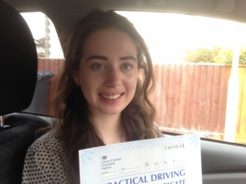 .....thoroughly deserved after all the hard work that you put into your driving lessons.
