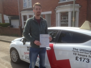 Heavy cold/man flu didn´t get in the way of producing a beautiful drive, you came back to the Test Centre with only 4 driving faults.