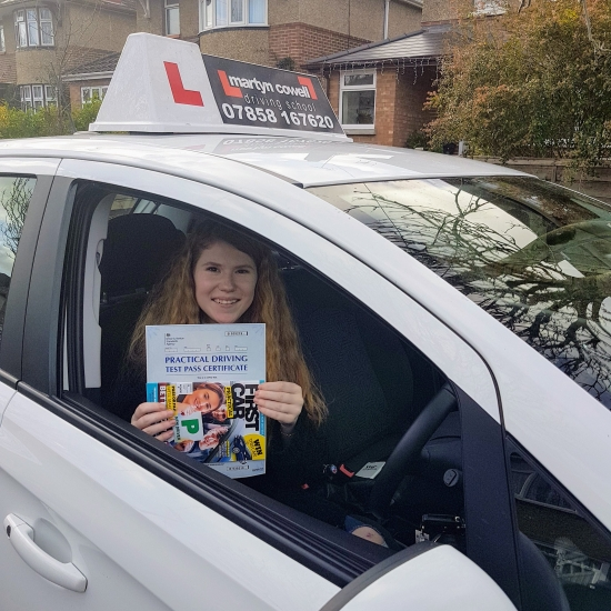 Congratulations Amy on passing your test in Winchester