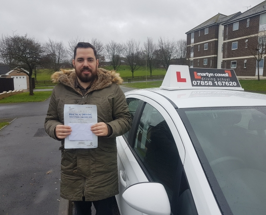 Congratulations Gary for passing your driving test today first time in Newbury December 2019