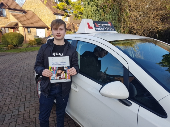 Congratulations on passing your test today in Winchester December 2019