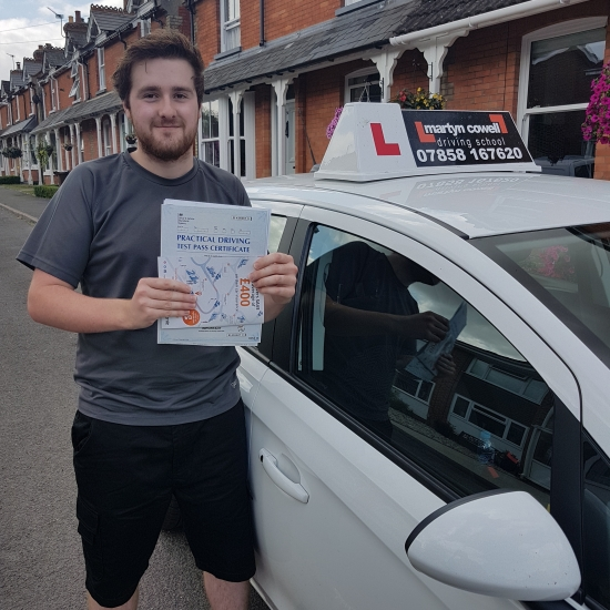 Congratulations Michael on passing your test 1st time in Salisbury