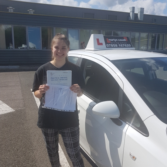 WOW Wow Wow!!!  Huge Congratularions Kirsten on passing your test today in Newbury FIRST TIME.