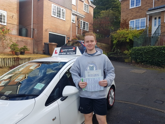 Congratulations Jenson on passing 1st time today in Newbury with 0 driving faults October 2019