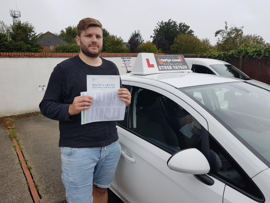 Congratulations Kori on passing today in Newbury. Sept 24th 2019