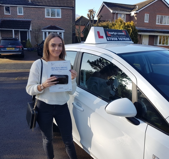 Congratulations Lucy on passing your driving test First time today in Newbury January 2020