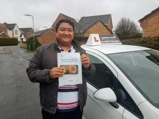 Congratulations Roshan Gurung for passing your driving test first time in Newbury January 2020