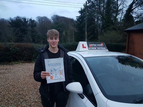 Congratulation Sam Clarke for passing your driving test First time today in Newbury December 2019