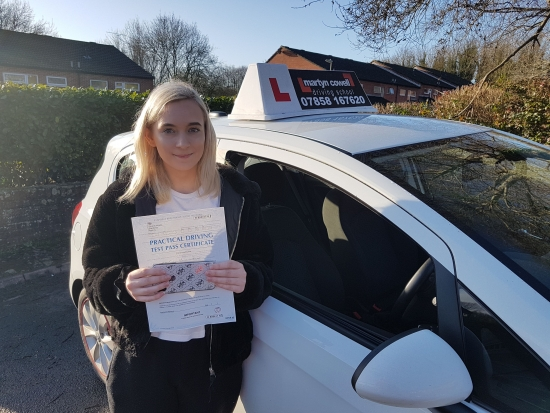 Congratulations Shaina for passing your driving test first time today in Newbury. January 2020