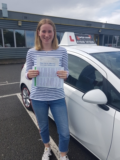 Congratulations Georgie on passing your Driving Test 1st time today in Newbury with only 1 driver fault. August 2019