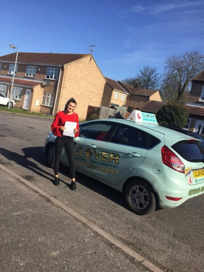 A great pass with 2 minors comment from the examiner that young lady can drive really well