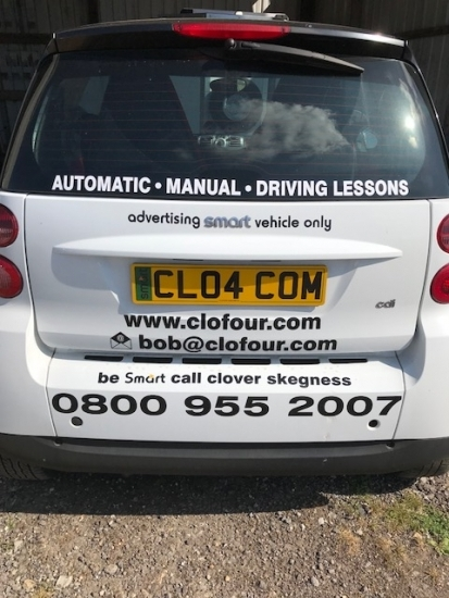 Our smart cars do our advertising for us.<br />