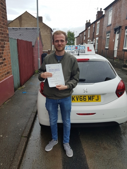 A big congratulations to Tom Simcock, who has passed his driving test today at Cobridge Driving Test Centre, on his First attempt and with just 3 driver faults.<br /> Well done Tom- safe driving from all at Craig Polles Instructor Training and Driving School. 🙂🚗<br /> Instructor-Dave Wilshaw