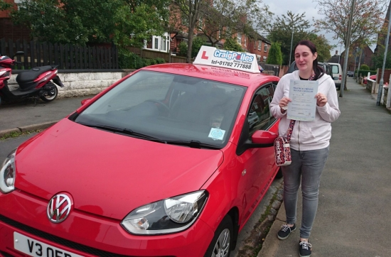 A big congratulations to Amy Rushton Amy passed her driving test today at Newcastle Driving Test Centre with 8 driver faults<br /> <br /> Well done Amy - safe driving from all at Craig Polles instructor training and driving school 🚗😀