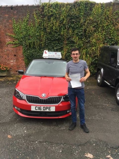A big congratulations to Grahame Boswell Grahame passed his driving test at Cobridge Driving Test Centre with 8 driver faults <br /> <br /> Well done Grahame - safe driving from all at Craig Polles instructor training and driving school 🚗😀