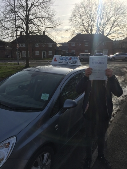 A big congratulations to Ben Creasy, who has passed his driving test today at Cobridge Driving Test Centre, on his First attempt and with just 3 driver faults.<br /> Well done Ben- safe driving from all at Craig Polles Instructor Training and Driving School. 🙂🚗<br /> Instructor-Andy Crompton