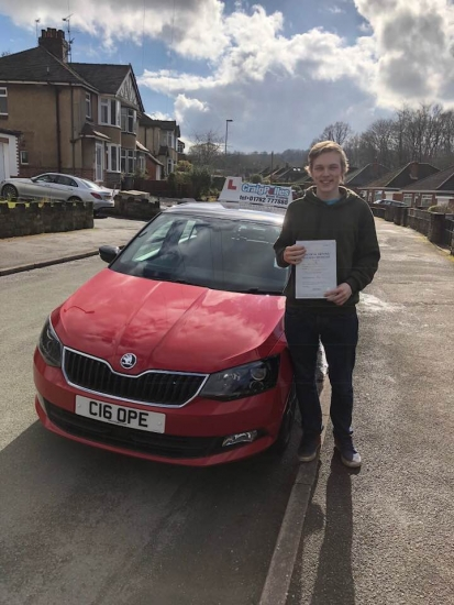 A massive congratulations to Liam Mountford, who has passed his driving test today at Cobridge Driving Test Centre, at his First attempt and with 0 driver faults.<br />