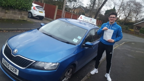A big congratulations to Nathan Lowndes, who has passed his driving test today at Cobridge Driving Test Centre, at his First attempt and with just 1 driver fault.<br />