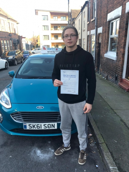 A big congratulations to James Robson, who has passed his driving test today at Newcastle Driving Test Centre, with just 6 driver faults.<br />