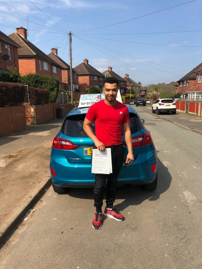 A big congratulations to Dante Omfroy, who has passed his driving test today at Newcastle Driving Test Centre, on his First attempt and with 6 driver faults.<br />