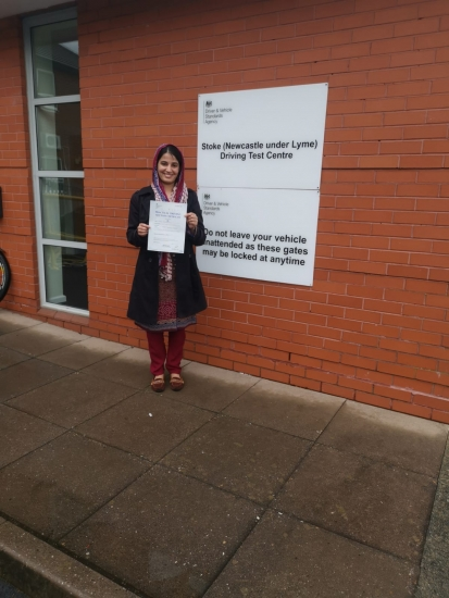 A big congratulations to Sarah Chouedry, who has passed her driving test today at Newcastle Driving Test Centre, with 8 driver faults.<br />