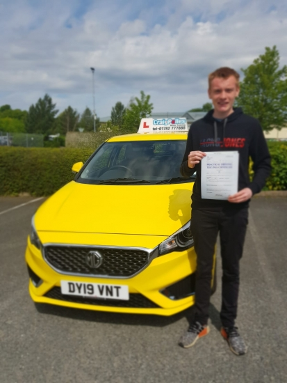 A big congratulations to Lewis Christey, who has passed his driving test today at Newcastle Driving Test Centre, on his First attempt and with just 4 driver faults.<br /> Well done Lewis- safe driving from all at Craig Polles Instructor Training and Driving School. 🙂🚗<br /> Instructor-Paul Lees