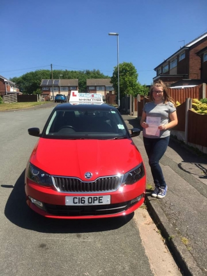 A big congratulations to Paige Dale Denton Paige passed her driving test today at Cobridge Driving Test Centre first time and with just 3 driver faults <br /> <br /> Well done Paige - safe driving from all at Craig Polles Instructor Training and Driving School 🚗😀