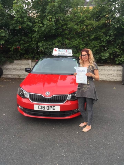A big congratulations to Yahna McCormick Yahna passed her driving test today at Cobridge Driving Test Centre first time and with just 2 driver faults <br />
