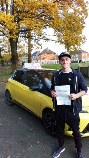 A big congratulations to Carl Roberts, who has passed his driving test today at Newcastle Driving Test Centre, with 8 driver faults.<br />