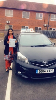 A big congratulations to Miss Safia Haleema Mahmood, who has passed her driving test today at Newcastle Driving Test Centre.<br />