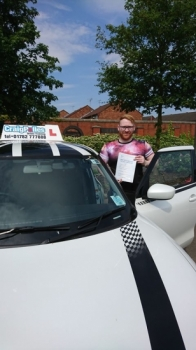 A big congratulations to Adam Croether, who has passed his driving test at Crewe Driving Test Centre, at his First attempt and with just 4 driver faults.<br />